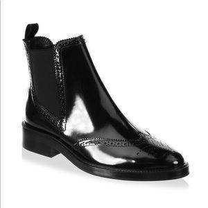 Burberry Bactonul Leather Chelsea Booties Black 41